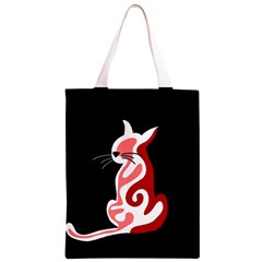 Red abstract cat Classic Light Tote Bag