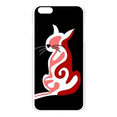 Red abstract cat Apple Seamless iPhone 6 Plus/6S Plus Case (Transparent)