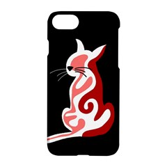 Red Abstract Cat Apple Iphone 7 Hardshell Case