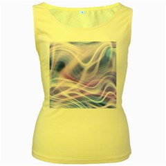 Abstract Graphic Design Background Women s Yellow Tank Top