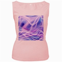 Abstract Graphic Design Background Women s Pink Tank Top