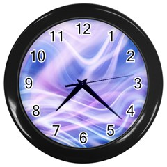 Abstract Graphic Design Background Wall Clocks (Black)
