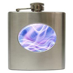 Abstract Graphic Design Background Hip Flask (6 oz)