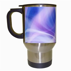 Abstract Graphic Design Background Travel Mugs (White)