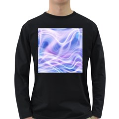 Abstract Graphic Design Background Long Sleeve Dark T-Shirts