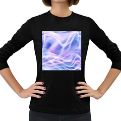 Abstract Graphic Design Background Women s Long Sleeve Dark T-Shirts