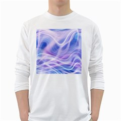 Abstract Graphic Design Background White Long Sleeve T-Shirts