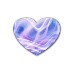 Abstract Graphic Design Background Rubber Coaster (Heart)