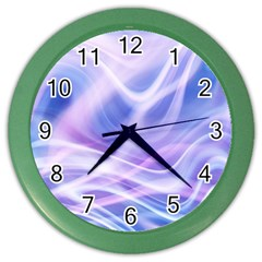 Abstract Graphic Design Background Color Wall Clocks