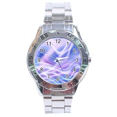 Abstract Graphic Design Background Stainless Steel Analogue Watch