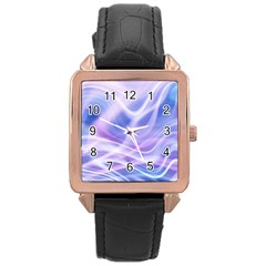 Abstract Graphic Design Background Rose Gold Leather Watch