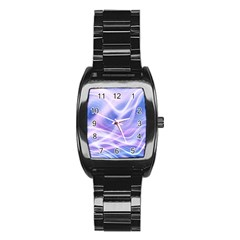 Abstract Graphic Design Background Stainless Steel Barrel Watch