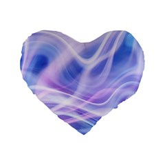 Abstract Graphic Design Background Standard 16  Premium Flano Heart Shape Cushions