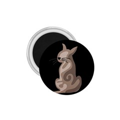 Brown abstract cat 1.75  Magnets