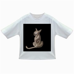 Brown abstract cat Infant/Toddler T-Shirts