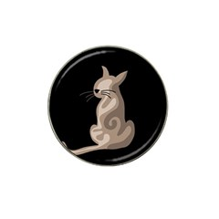 Brown abstract cat Hat Clip Ball Marker (10 pack)