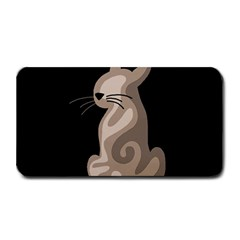 Brown abstract cat Medium Bar Mats