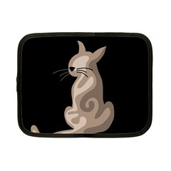 Brown abstract cat Netbook Case (Small)