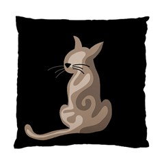 Brown abstract cat Standard Cushion Case (One Side)