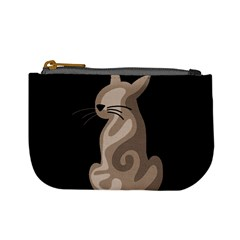 Brown abstract cat Mini Coin Purses