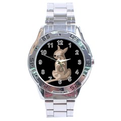Brown abstract cat Stainless Steel Analogue Watch