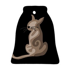 Brown abstract cat Ornament (Bell)
