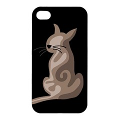 Brown abstract cat Apple iPhone 4/4S Premium Hardshell Case