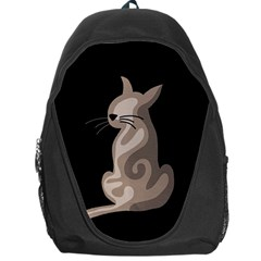 Brown abstract cat Backpack Bag