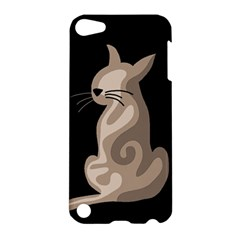 Brown abstract cat Apple iPod Touch 5 Hardshell Case