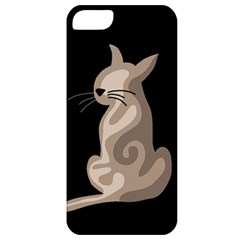 Brown abstract cat Apple iPhone 5 Classic Hardshell Case