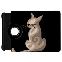 Brown abstract cat Kindle Fire HD 7