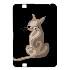 Brown abstract cat Kindle Fire HD 8.9