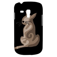 Brown abstract cat Galaxy S3 Mini