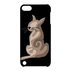Brown abstract cat Apple iPod Touch 5 Hardshell Case with Stand