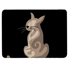 Brown abstract cat Samsung Galaxy Tab 7  P1000 Flip Case