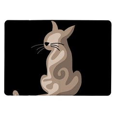 Brown abstract cat Samsung Galaxy Tab 10.1  P7500 Flip Case