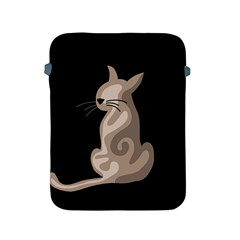 Brown abstract cat Apple iPad 2/3/4 Protective Soft Cases