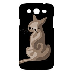 Brown abstract cat Samsung Galaxy Mega 5.8 I9152 Hardshell Case
