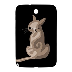 Brown abstract cat Samsung Galaxy Note 8.0 N5100 Hardshell Case