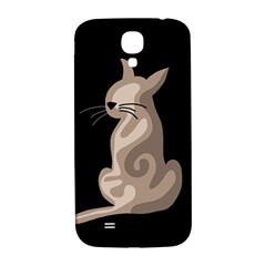 Brown abstract cat Samsung Galaxy S4 I9500/I9505  Hardshell Back Case