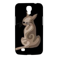 Brown abstract cat Samsung Galaxy Mega 6.3  I9200 Hardshell Case