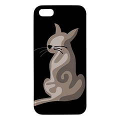 Brown abstract cat iPhone 5S/ SE Premium Hardshell Case