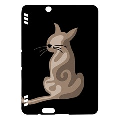 Brown abstract cat Kindle Fire HDX Hardshell Case