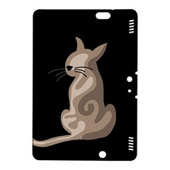 Brown abstract cat Kindle Fire HDX 8.9  Hardshell Case
