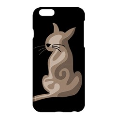 Brown abstract cat Apple iPhone 6 Plus/6S Plus Hardshell Case