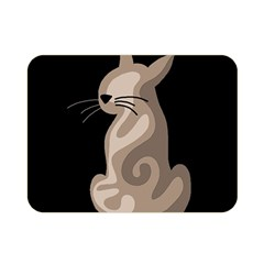 Brown abstract cat Double Sided Flano Blanket (Mini)