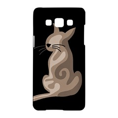 Brown abstract cat Samsung Galaxy A5 Hardshell Case