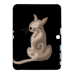 Brown abstract cat Samsung Galaxy Tab 4 (10.1 ) Hardshell Case