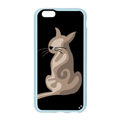 Brown abstract cat Apple Seamless iPhone 6/6S Case (Color)