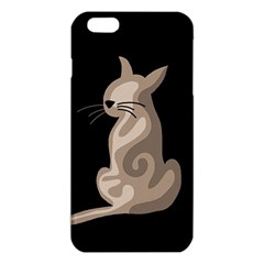 Brown abstract cat iPhone 6 Plus/6S Plus TPU Case